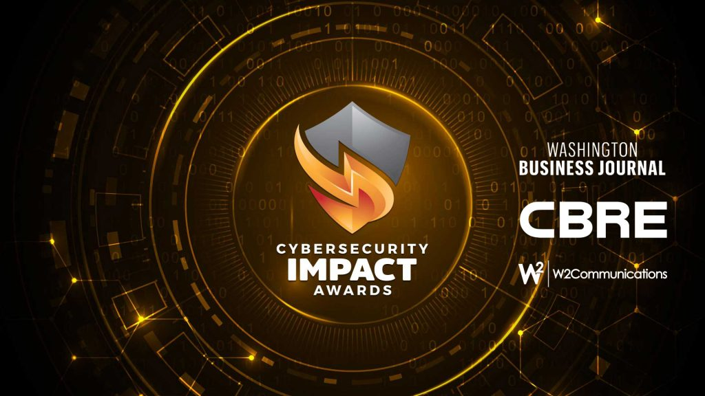 cyber impact awards logo with sponsors